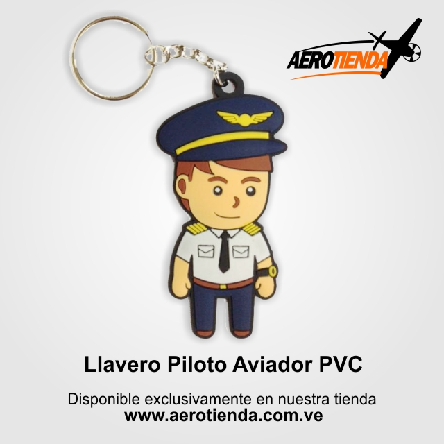Llavero PVC piloto aviador